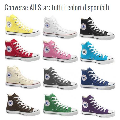 Colori all star converse disponibili
